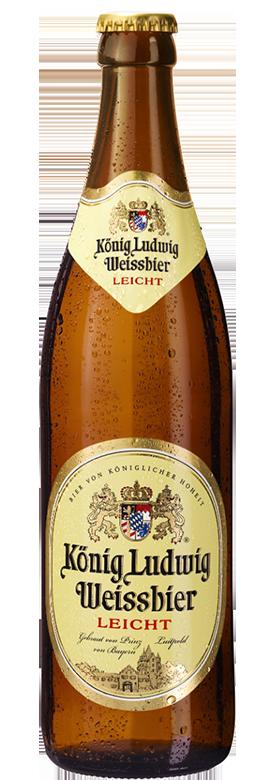 Eine Flasche König Ludwig Weissbier Leicht