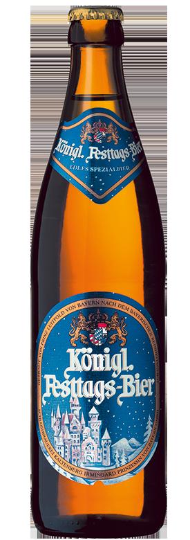 Eine Flasche Königliches Festtagsbier