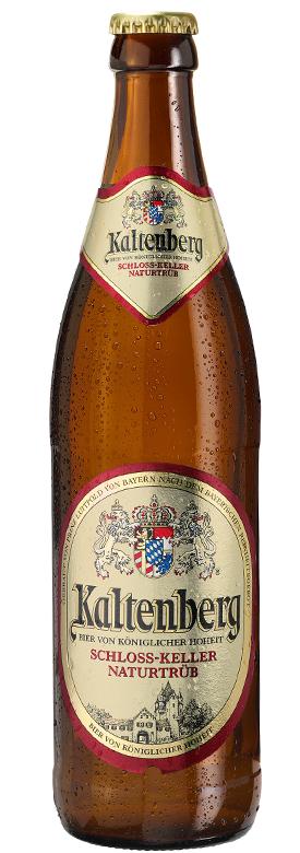 Eine Flasche Kaltenberg Schloss-Keller Naturtrüb