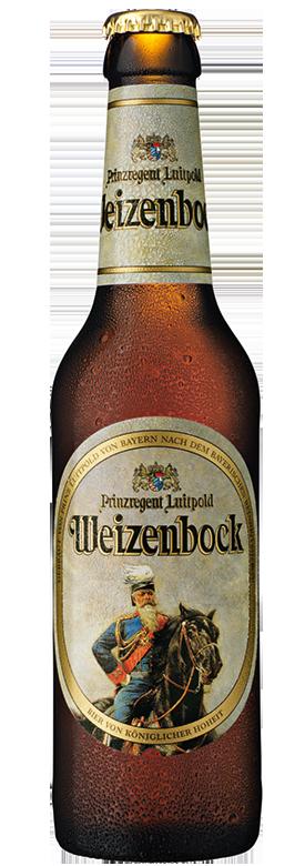 Eine Flasche Prinzregent Luitpold Weizenbock