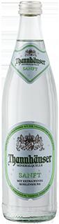 Eine Flasche Thannhäuser Mineralquelle Sanft